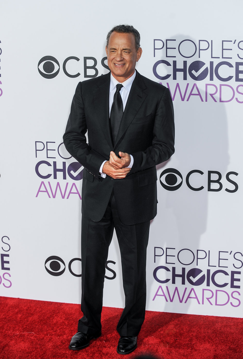 (170119) -- LOS ANGELES, Jan. 19, 2017 (Xinhua) -- Tom Hanks arrives for the People's Choice Awards at the Microsoft Theater in Los Angeles, the United States, Jan. 18, 2017. (Xinhua/Zhang Chaoqun) (djj)