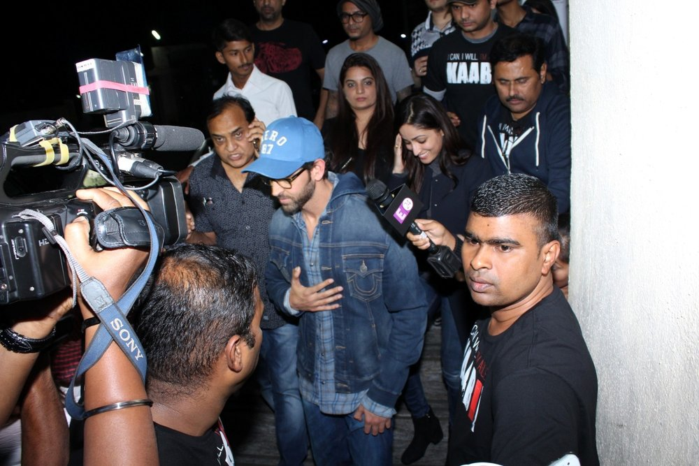 Mumbai: Actor Hrithik Roshan during special sreening of film Kaabil in Mumbai on Jan 22, 2017. (Photo: (IANS)