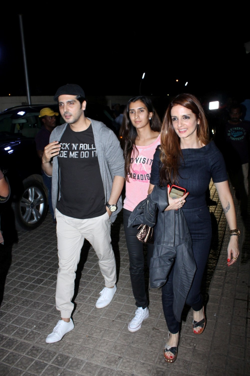Mumbai: Actor Zayed Khan, Sussanne Khan during special sreening of film Kaabil in Mumbai on Jan 22, 2017. (Photo: (IANS)
