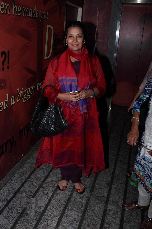 Mumbai: Actress Shabana Azmi during special sreening of film Kaabil in Mumbai on Jan 22, 2017. (Photo: (IANS)