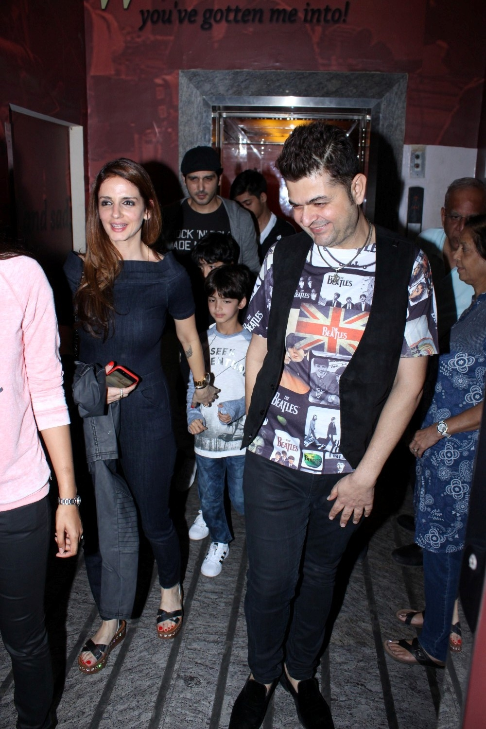 Mumbai: Photographe Dabboo Ratnani and Sussanne Khan during special sreening of film Kaabil in Mumbai on Jan 22, 2017. (Photo: (IANS)