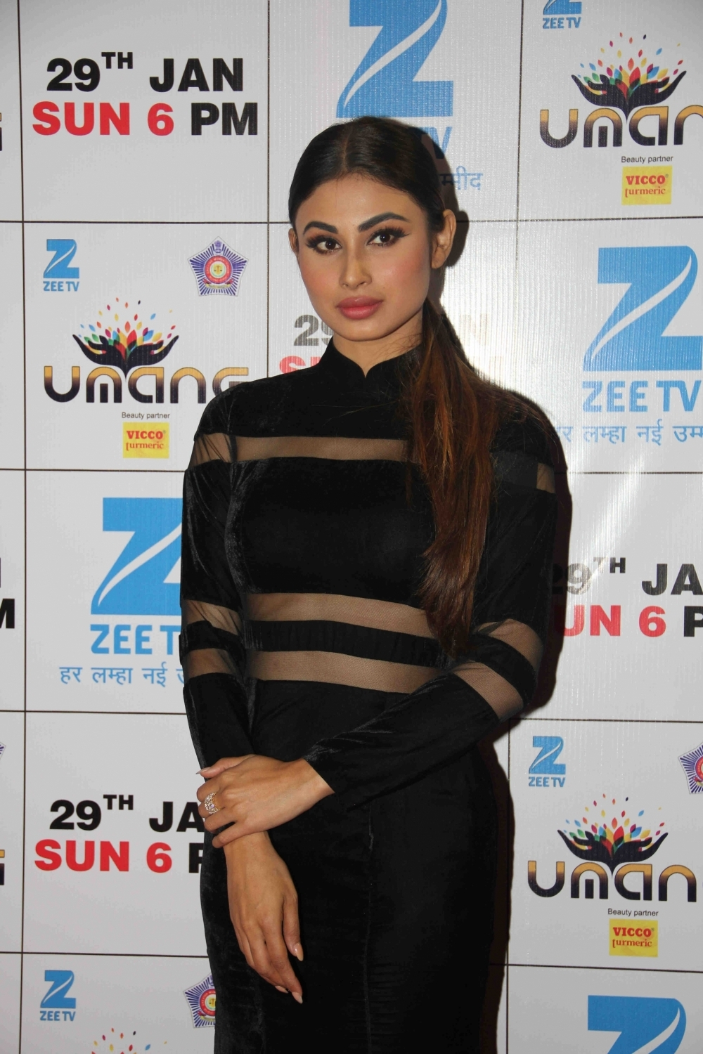 Mumbai: Actress Mouni Roy during the Umang Mumbai Police Show 2017 in Mumbai on Jan 22, 2017. (Photo: IANS)