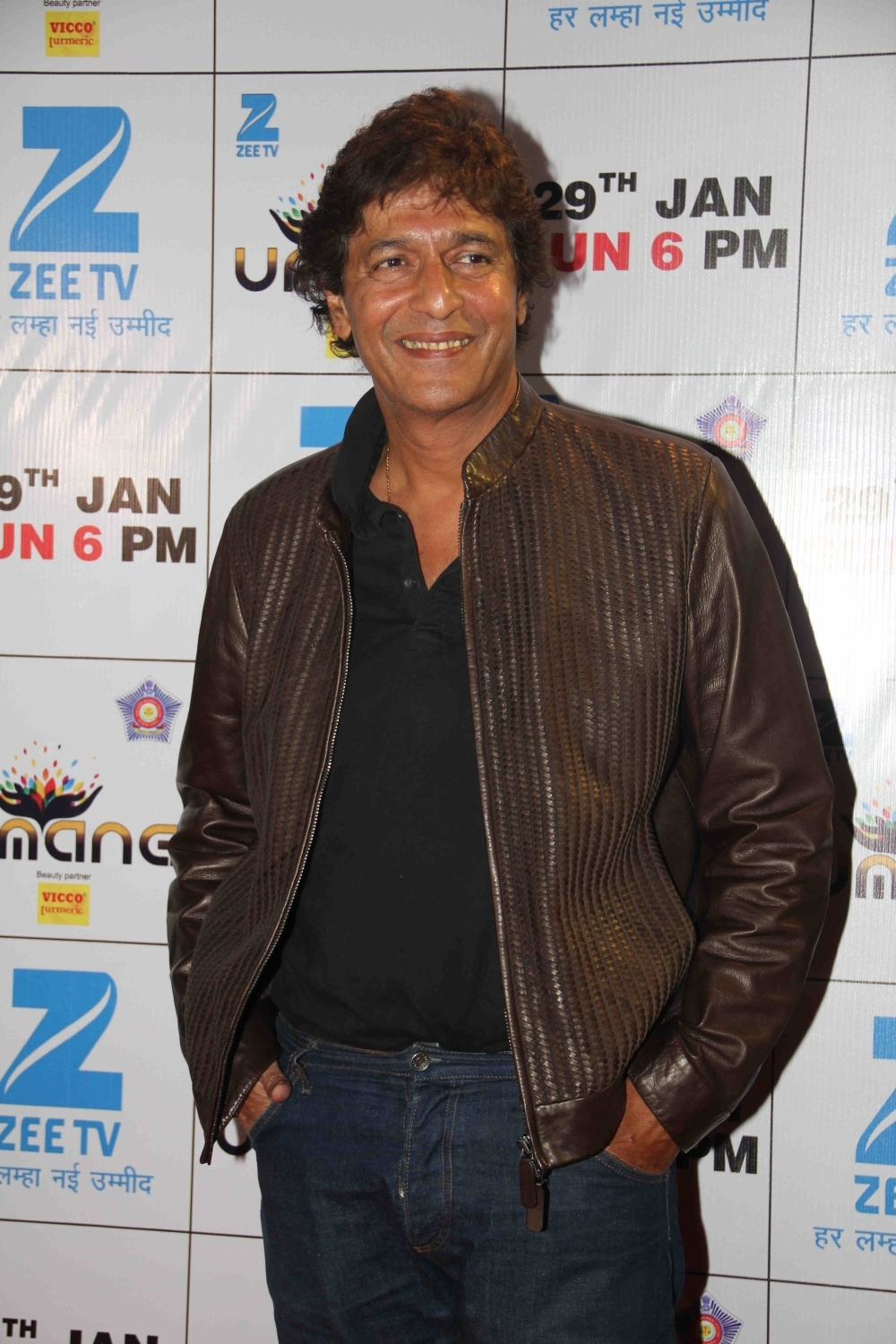 Mumbai: Actor Chunky Pandey during the Umang Mumbai Police Show 2017 in Mumbai on Jan 22, 2017. (Photo: IANS)