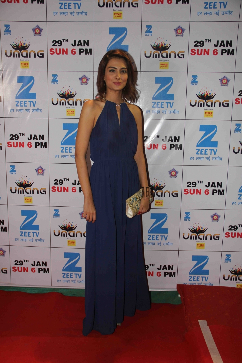 Mumbai: Actress Nazia Hussain during the Umang Mumbai Police Show 2017 in Mumbai on Jan 22, 2017. (Photo: IANS)