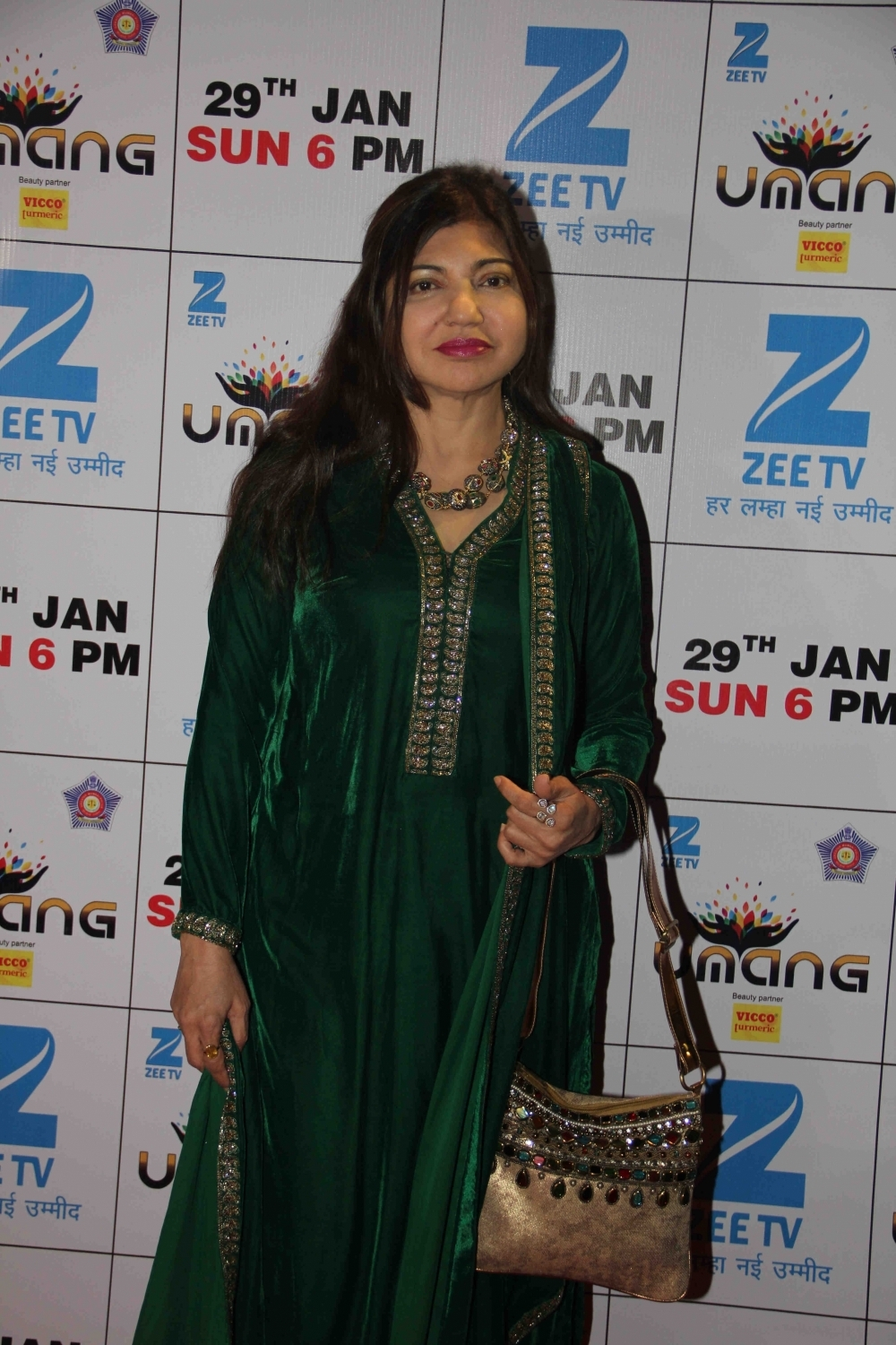 Mumbai: Singer Alka Yagnik during the Umang Mumbai Police Show 2017 in Mumbai on Jan 22, 2017. (Photo: IANS)