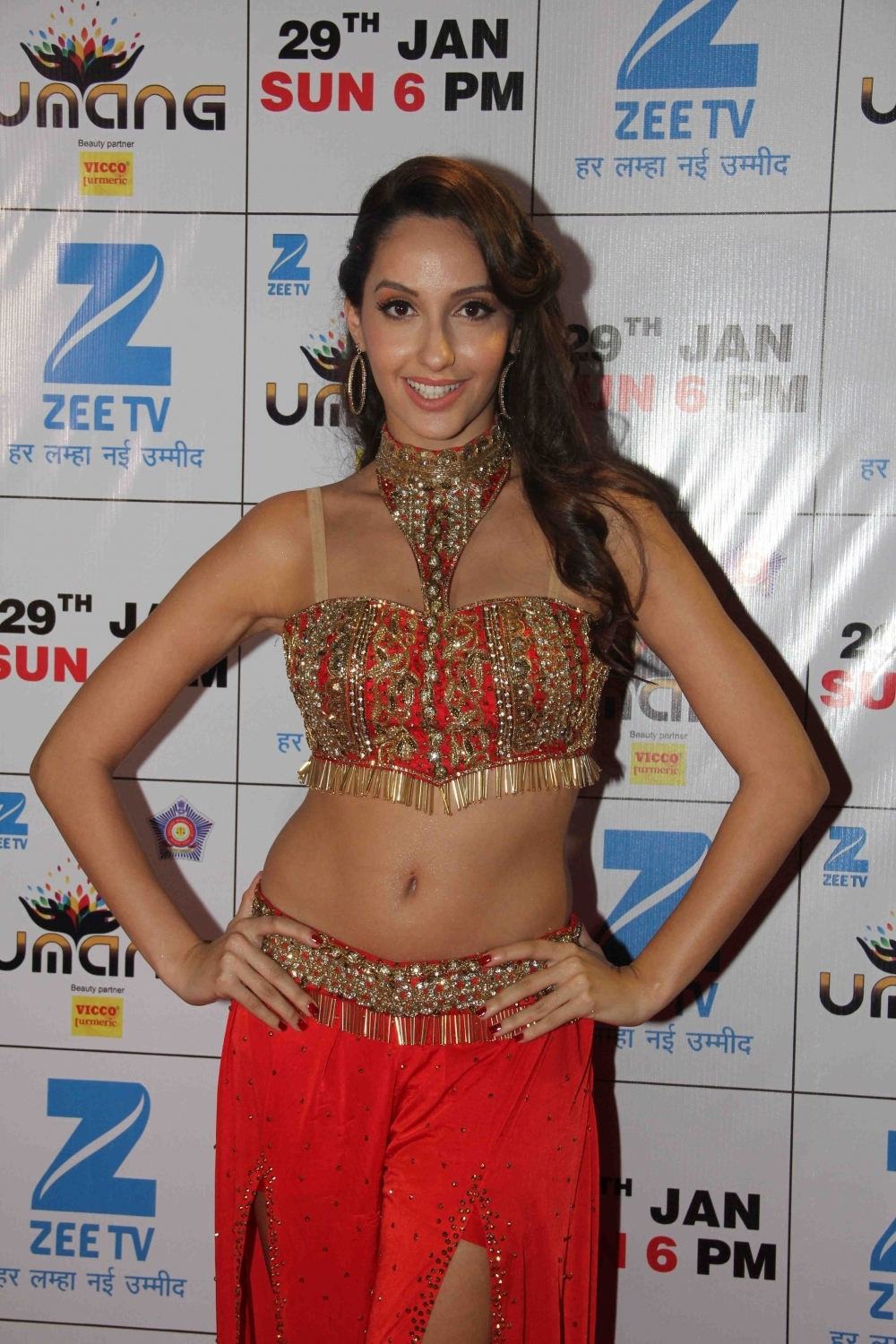Mumbai: Actress Nora Fatehi during the Umang Mumbai Police Show 2017 in Mumbai on Jan 22, 2017. (Photo: IANS)