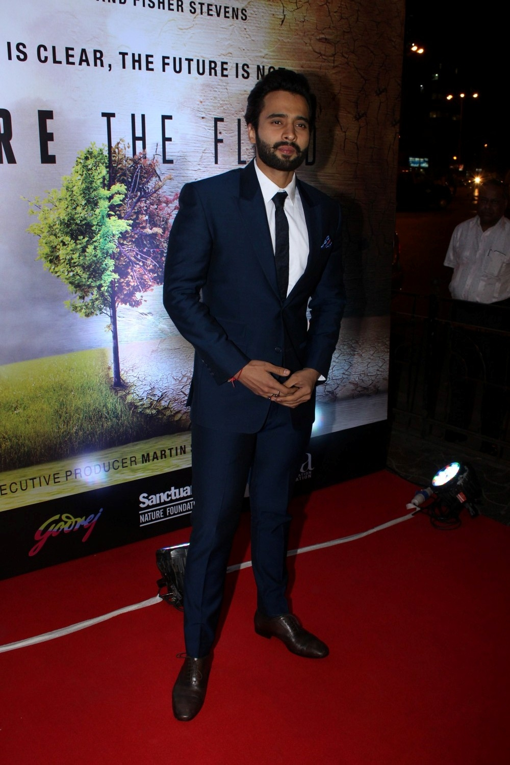 Mumbai: Actor Jackky Bhagnani during the screening of Leonardo DiCaprio-starring climate change documentary Before the Flood in Mumbai on Jan 23, 2017. (Photo: IANS)