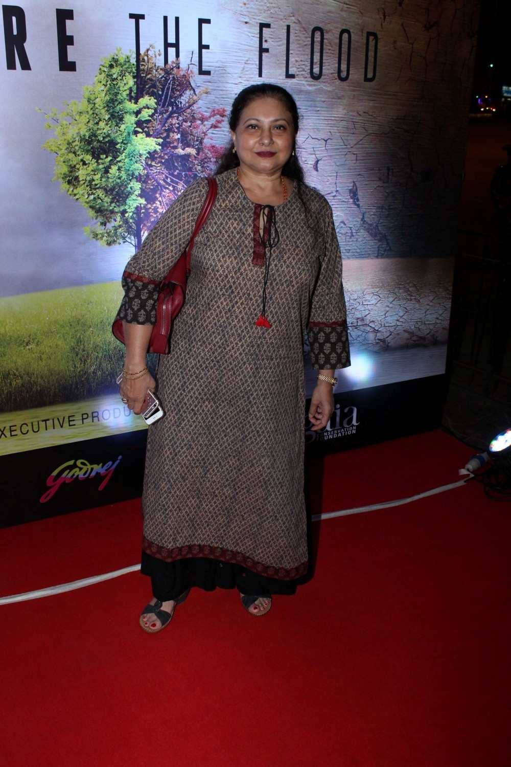 Mumbai: Actress Smita Jaykar during the screening of Leonardo DiCaprio-starring climate change documentary Before the Flood in Mumbai on Jan 23, 2017. (Photo: IANS)