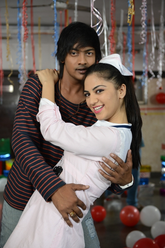 Hyderabad: Stills of Telugu film Kannayya. (Photo: IANS)