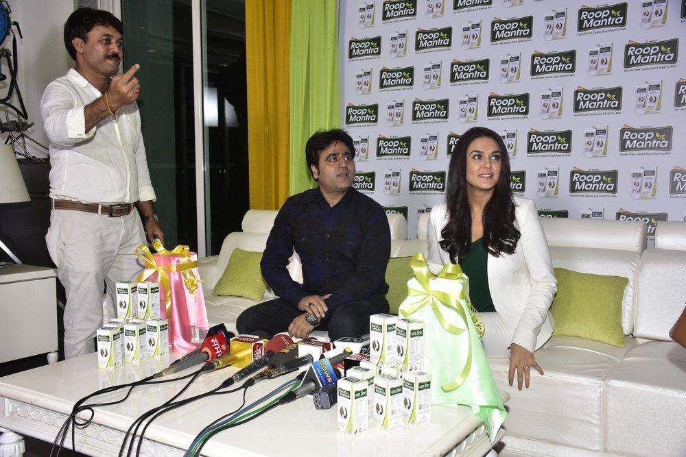 Mumbai:   Actress Preity Zinta during an advertisement  shoot for Roop Mantra face cream in Mumbai on Jan 24, 2017 (Photo: IANS)