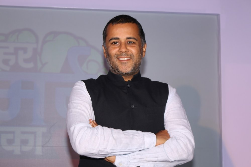 Mumbai: Author Chetan Bhagat during the launch of Life OK's new show Har Mard Ka Dard, in Mumbai on Jan 27, 2017. (Photo: IANS)