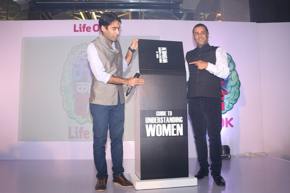 Mumbai: Author Chetan Bhagat and actor Faisal Rashid during the launch of Life OK's new show Har Mard Ka Dard, in Mumbai on Jan 27, 2017. (Photo: IANS)