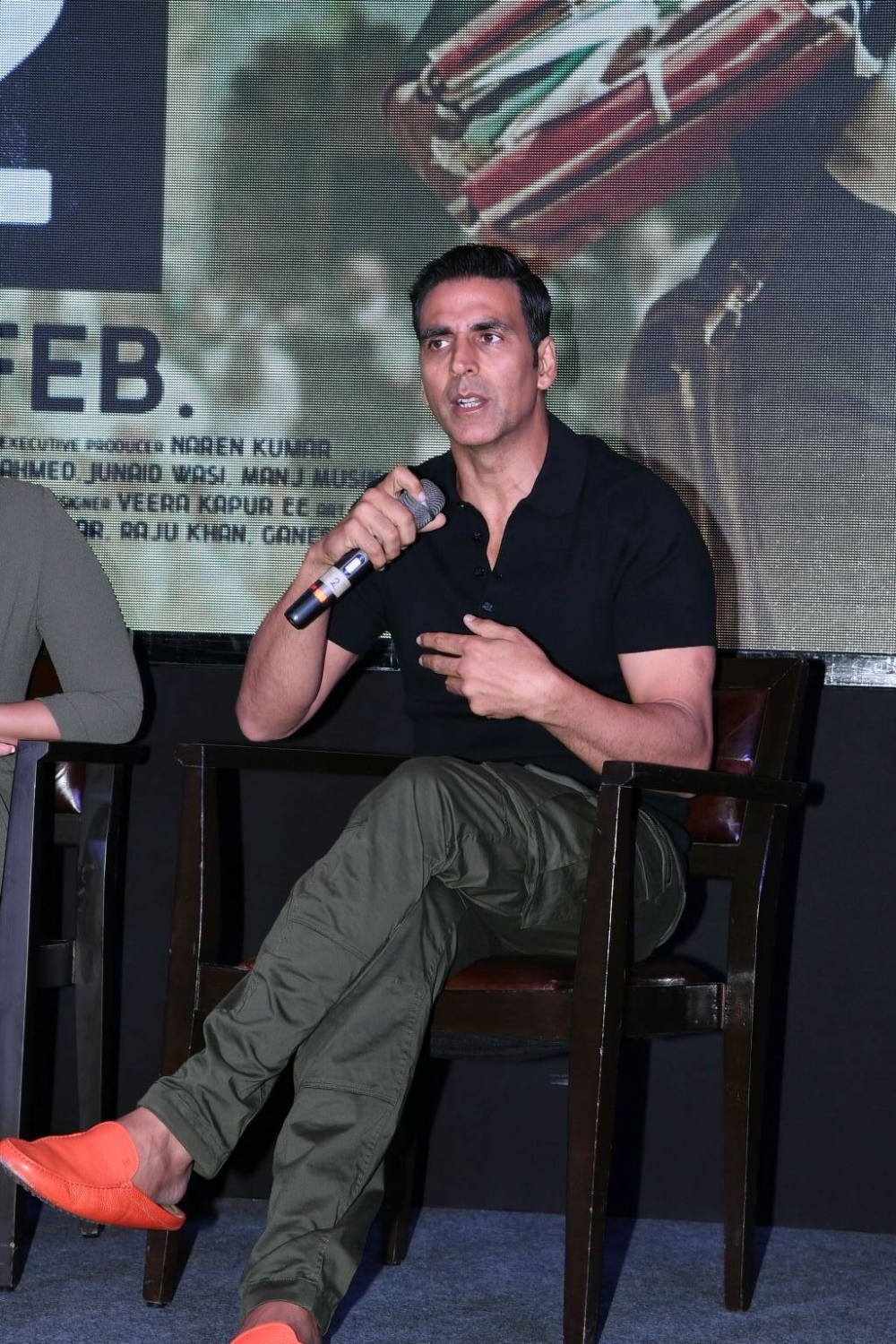 "Hyderabad: Actor Akshay Kumar during the press meet and promotion of his film ""Jolly LLB 2"" in Hyderabad, on Jan 28, 2017. (Photo: IANS)"