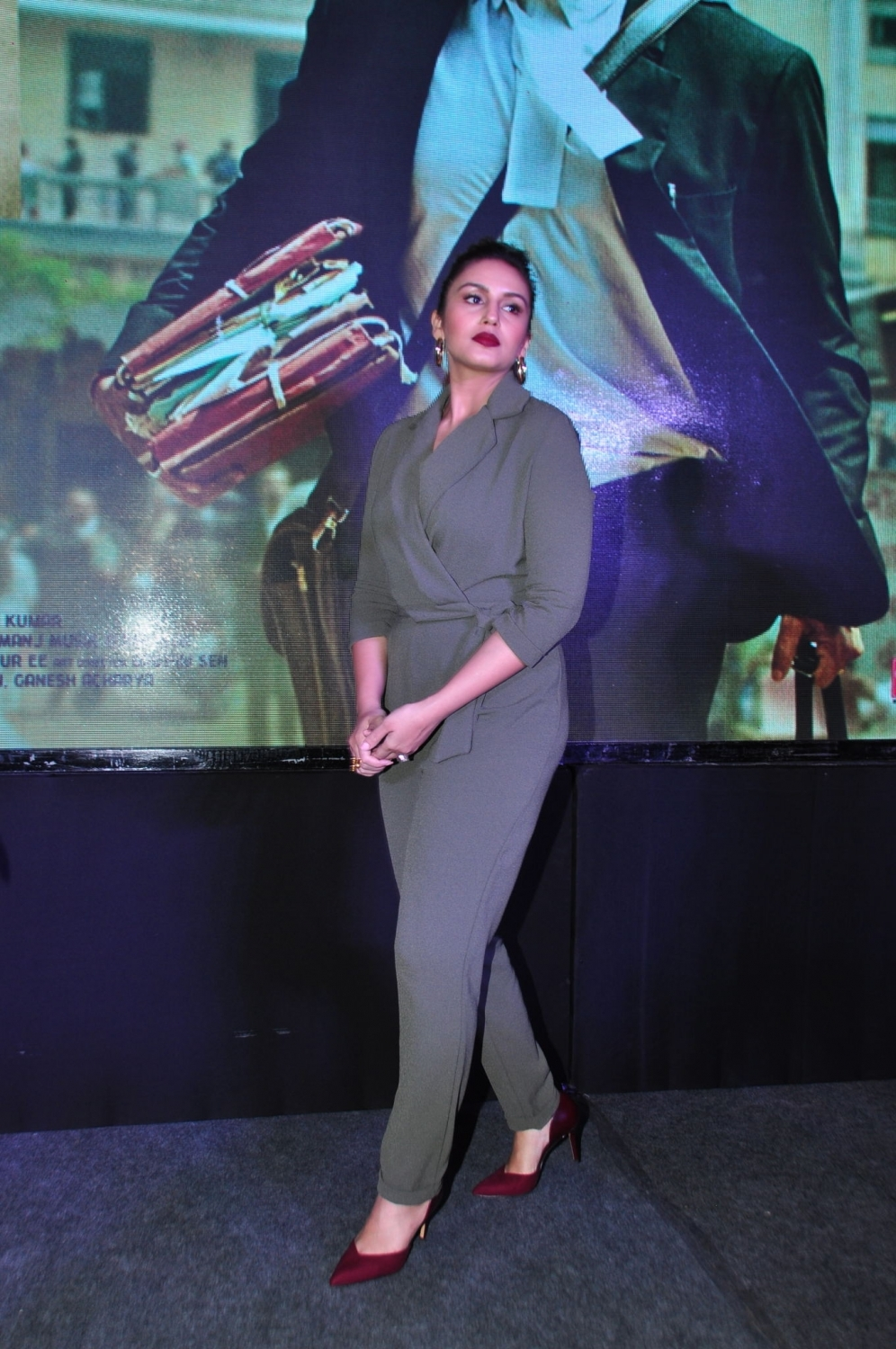 "Hyderabad: Actress Huma Qureshi during the press meet and promotion of their film ""Jolly LLB 2"" in Hyderabad, on Jan 28, 2017. (Photo: IANS)"