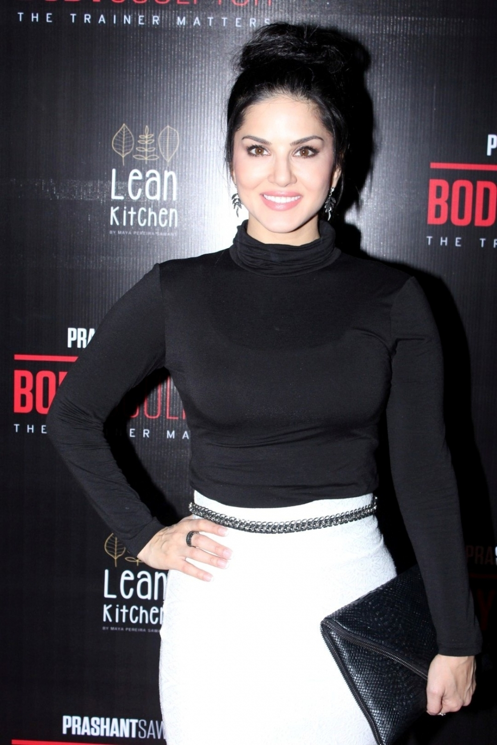 Mumbai: Actress Sunny Leone during the launch party of Body Sculptor Gym in Mumbai on Jan 28, 2017. (Photo: IANS)