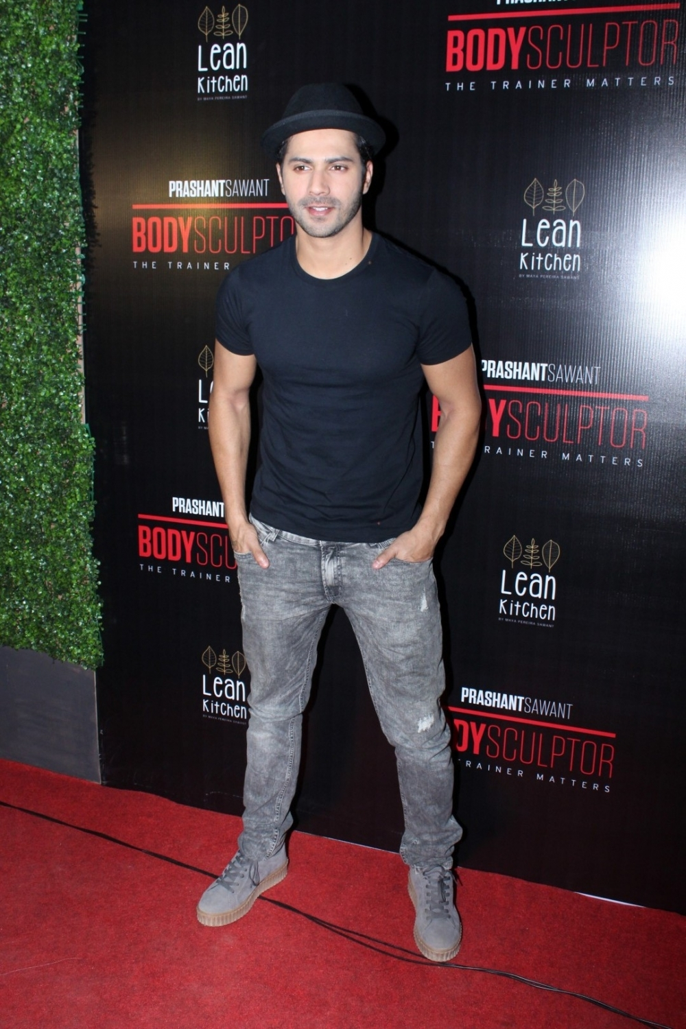 Mumbai: Actor Varun Dhawan during the launch party of Body Sculptor Gym in Mumbai on Jan 28, 2017. (Photo: IANS)