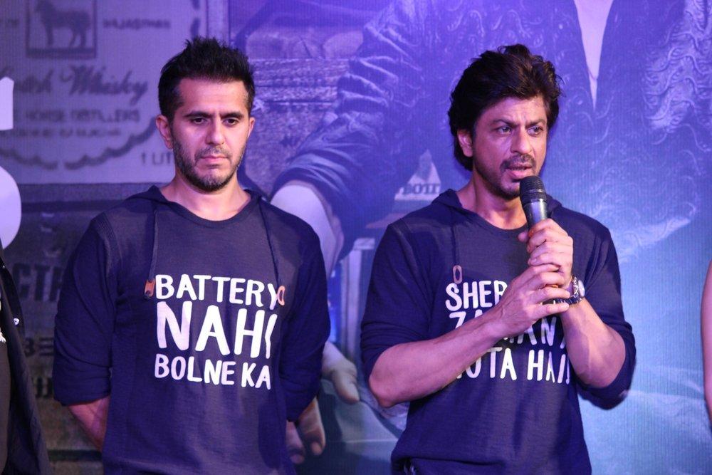 Mumbai: Filmmaker Ritesh Sidhwani and actor Shahrukh Khan during the success party of film Raees in Mumbai on Jan 30, 2017. (Photo: IANS)