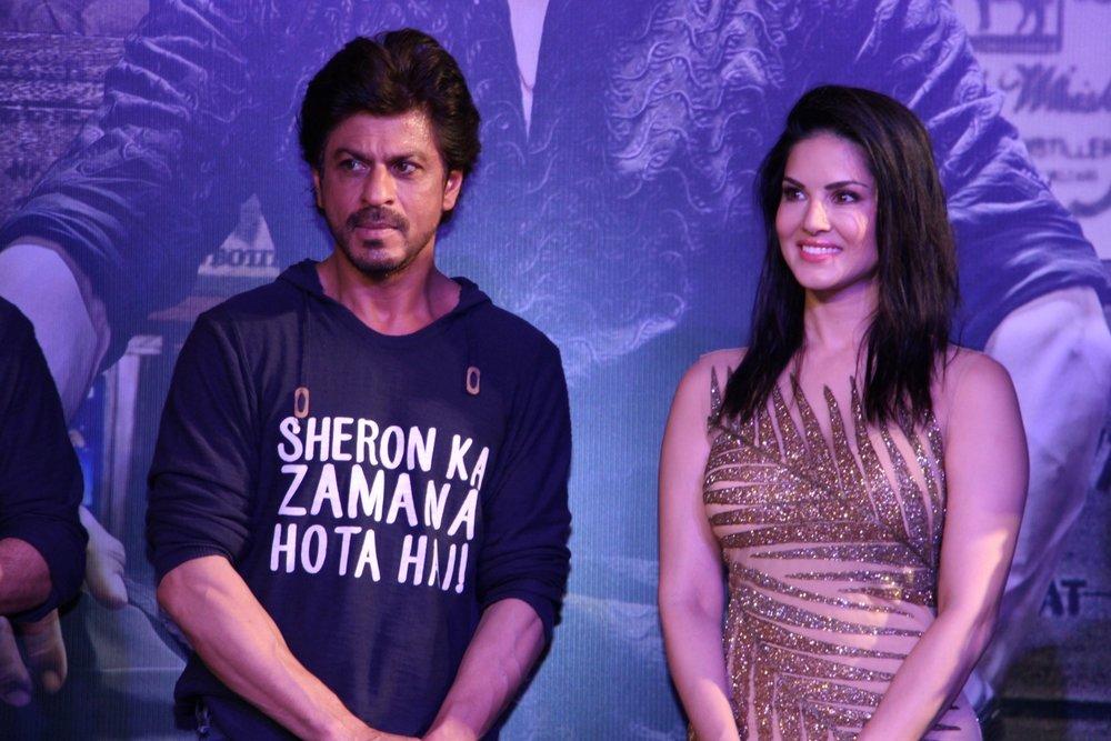 Mumbai: Actors Shahrukh Khan and Sunny Leone during the success party of film Raees in Mumbai on Jan 30, 2017. (Photo: IANS)