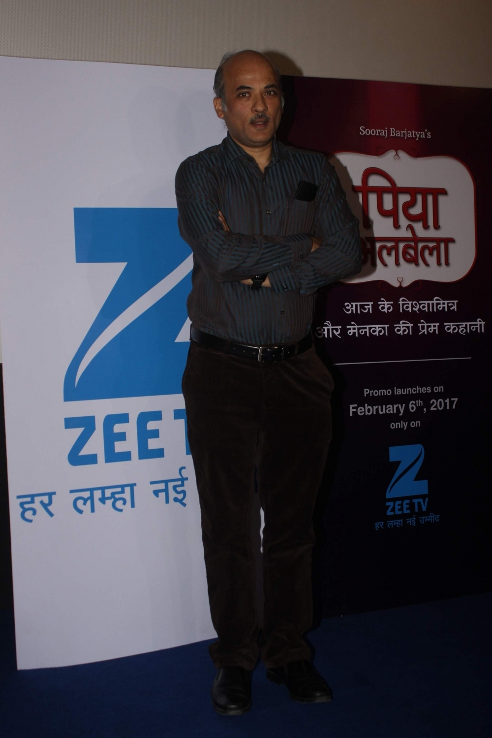 "Mumbai: filmmaker Sooraj Barjatya during the teaser launch of his show ""Piyaa Albela"" on Zee TV in Mumbai, on Jan 30, 2017. (Photo: IANS)"