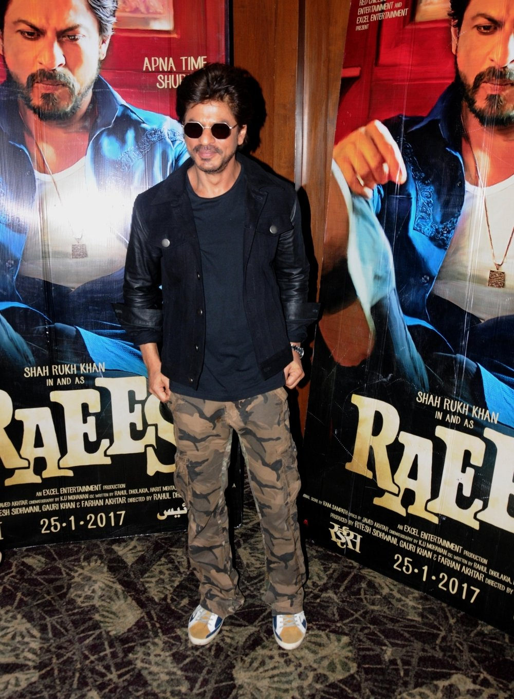 """Amritsar: Actor Shah Rukh Khan during a programme organised to promote """"Raees"""" in Amritsar on Jan 31, 2017. (Photo: IANS)"""