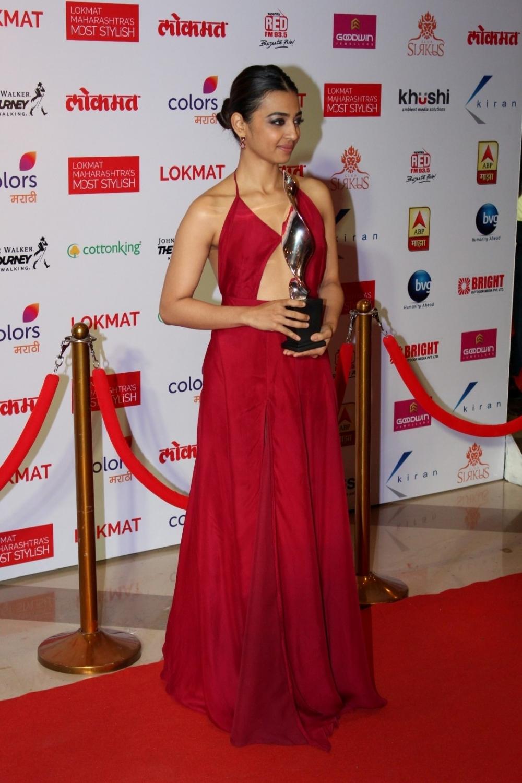 Mumbai:  Actress Radhika Apte during the Lokmat Maharashtra Most Stylish Awards in Mumbai on Jan 31, 2017. (Photo: IANS)