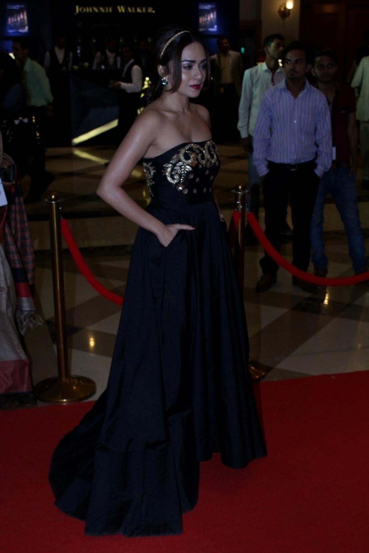 Mumbai:  Actor Amruta Khanvilkar during the Lokmat Maharashtra Most Stylish Awards in Mumbai on Jan 31, 2017. (Photo: IANS)