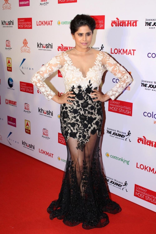 Mumbai:  Actor Sai Tamhankar during the Lokmat Maharashtra Most Stylish Awards in Mumbai on Jan 31, 2017. (Photo: IANS)
