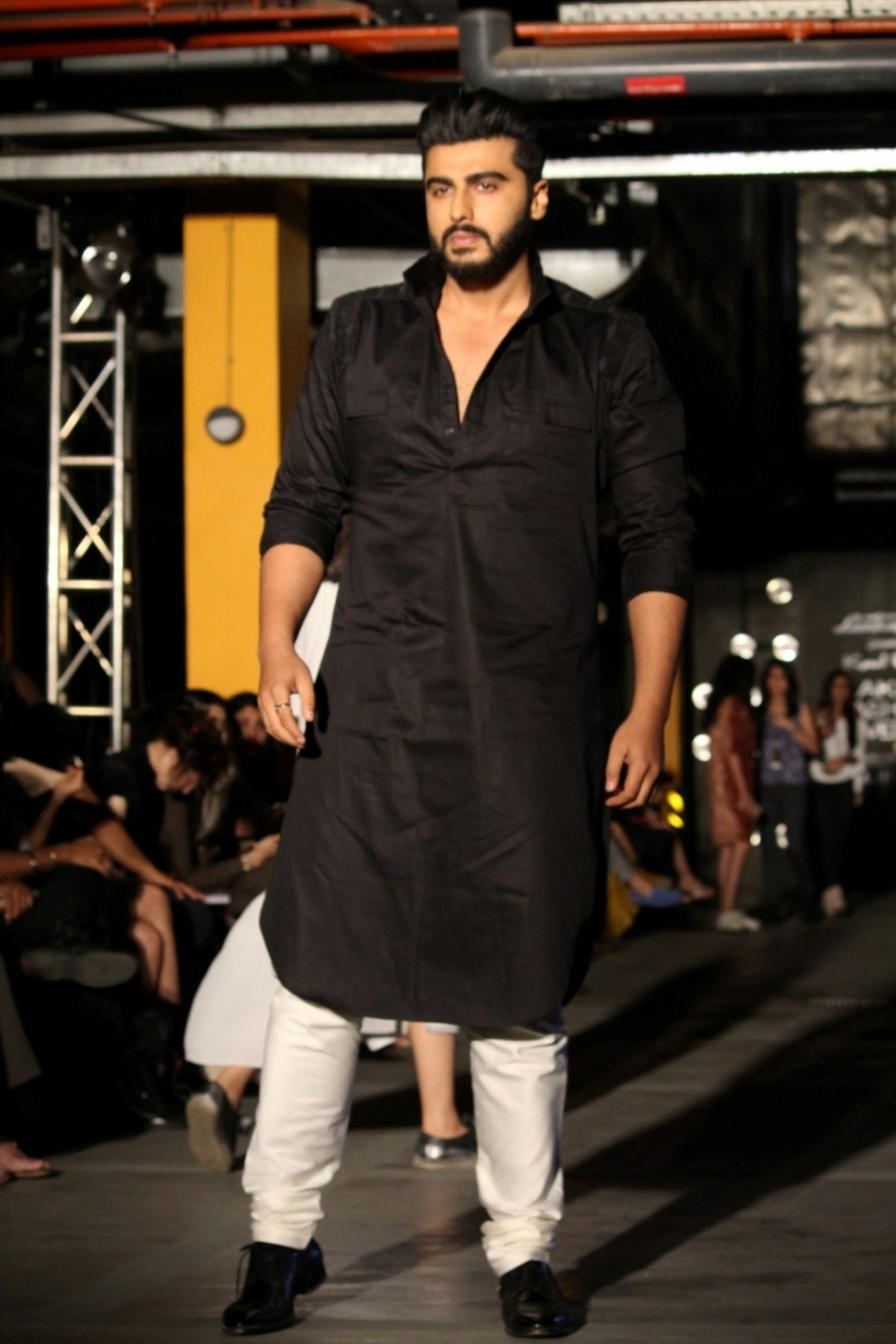 Mumbai:  Actor Arjun Kapoor during the Lakme Fashion Week Summer/Resort 2017 in Mumbai on Feb 1, 2017. (Photo: IANS)