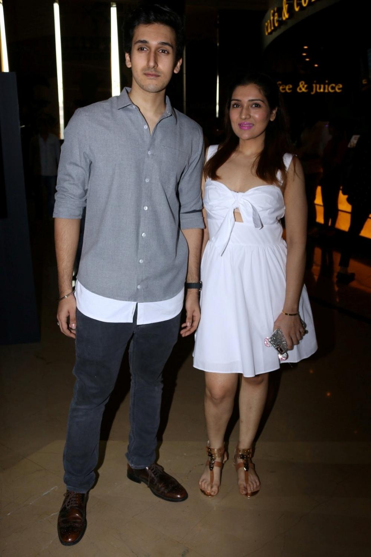 Mumbai:  Actor Govinda's son Yashvardan Ahuja and daughter Tina Ahuja during the trailer launch of film Aa Gaya Hero in Mumbai on Feb 1, 2017. (Photo: IANS)