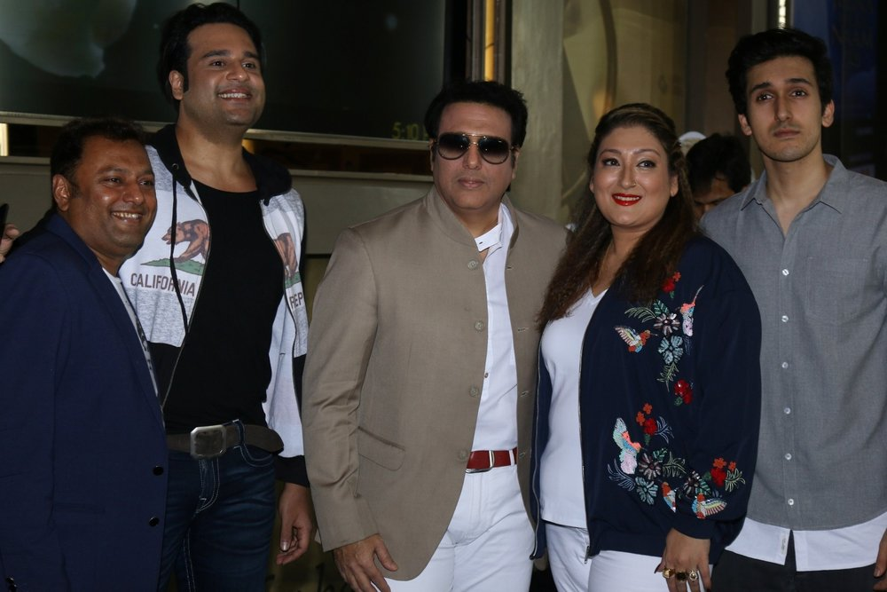 Govinda with his wife Sunita Ahuja, son Yashvardan Ahuja ...