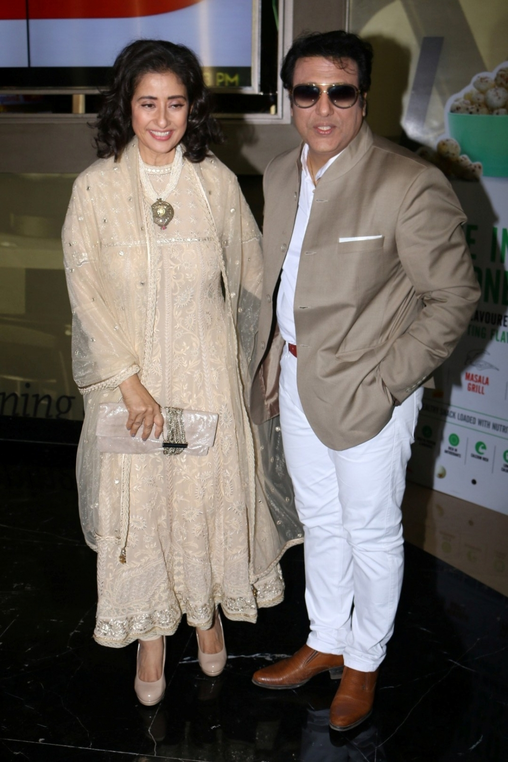 Mumbai:  Actors Govinda and Manisha Koirala during the trailer launch of film Aa Gaya Hero in Mumbai on Feb 1, 2017. (Photo: IANS)