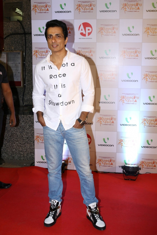 Mumbai: Actor Sonu Sood during the screening of film Kung Fu Yoga in Mumbai on Feb 2, 2017. (Photo: IANS)