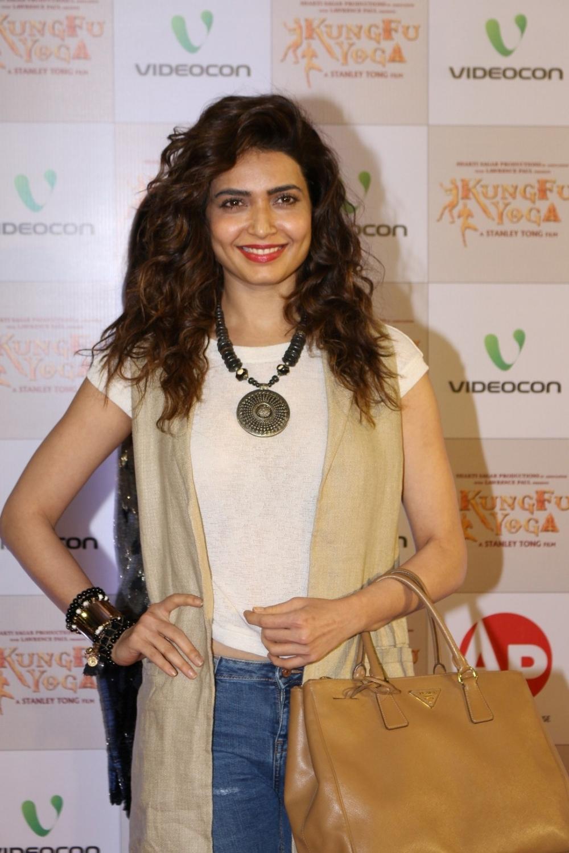 Mumbai: Actress Karishma Tanna during the screening of film Kung Fu Yoga in Mumbai on Feb 2, 2017. (Photo: IANS)