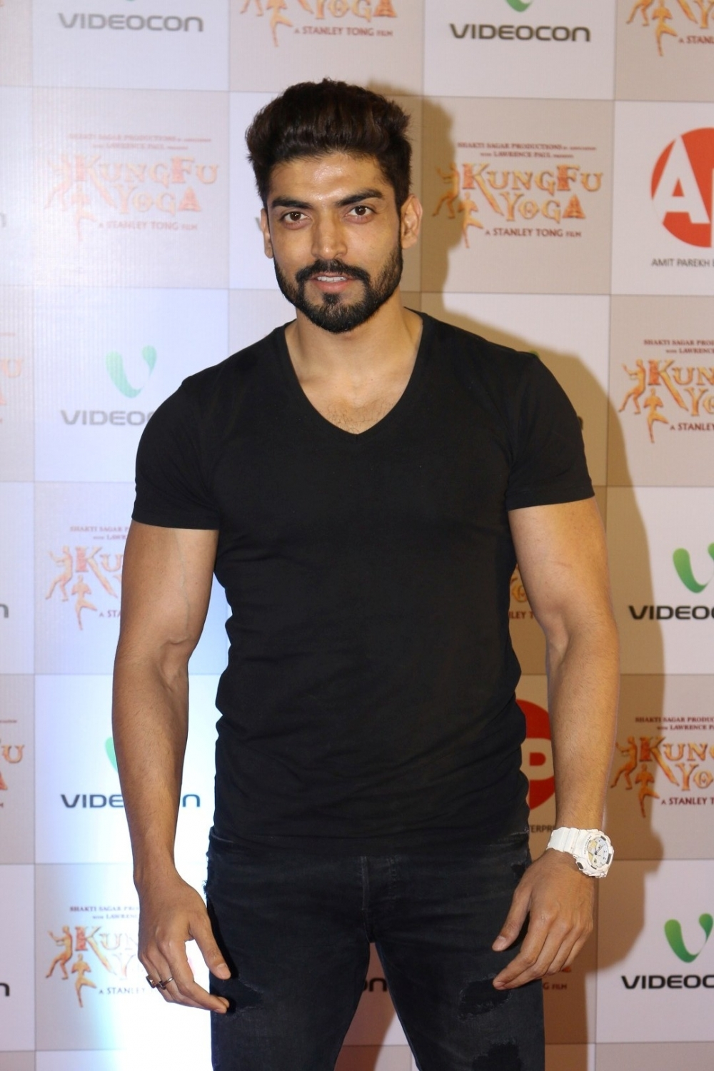 Mumbai: Actor Gurmeet Choudhary during the screening of film Kung Fu Yoga in Mumbai on Feb 2, 2017. (Photo: IANS)