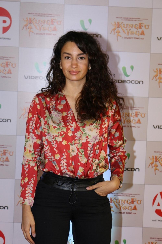 Mumbai: Actress Alina Fernandez during the screening of film Kung Fu Yoga in Mumbai on Feb 2, 2017. (Photo: IANS)