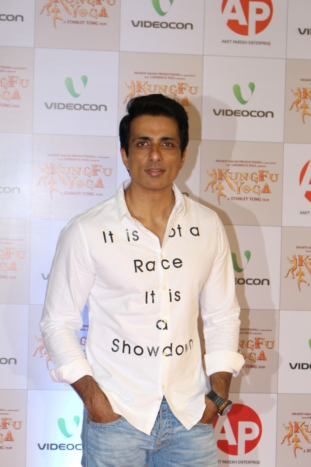 Mumbai: Actor Sonu Sood during the screening of film Kung Fu Yoga in Mumbai on Feb 2, 2017. (Photo: IANS)