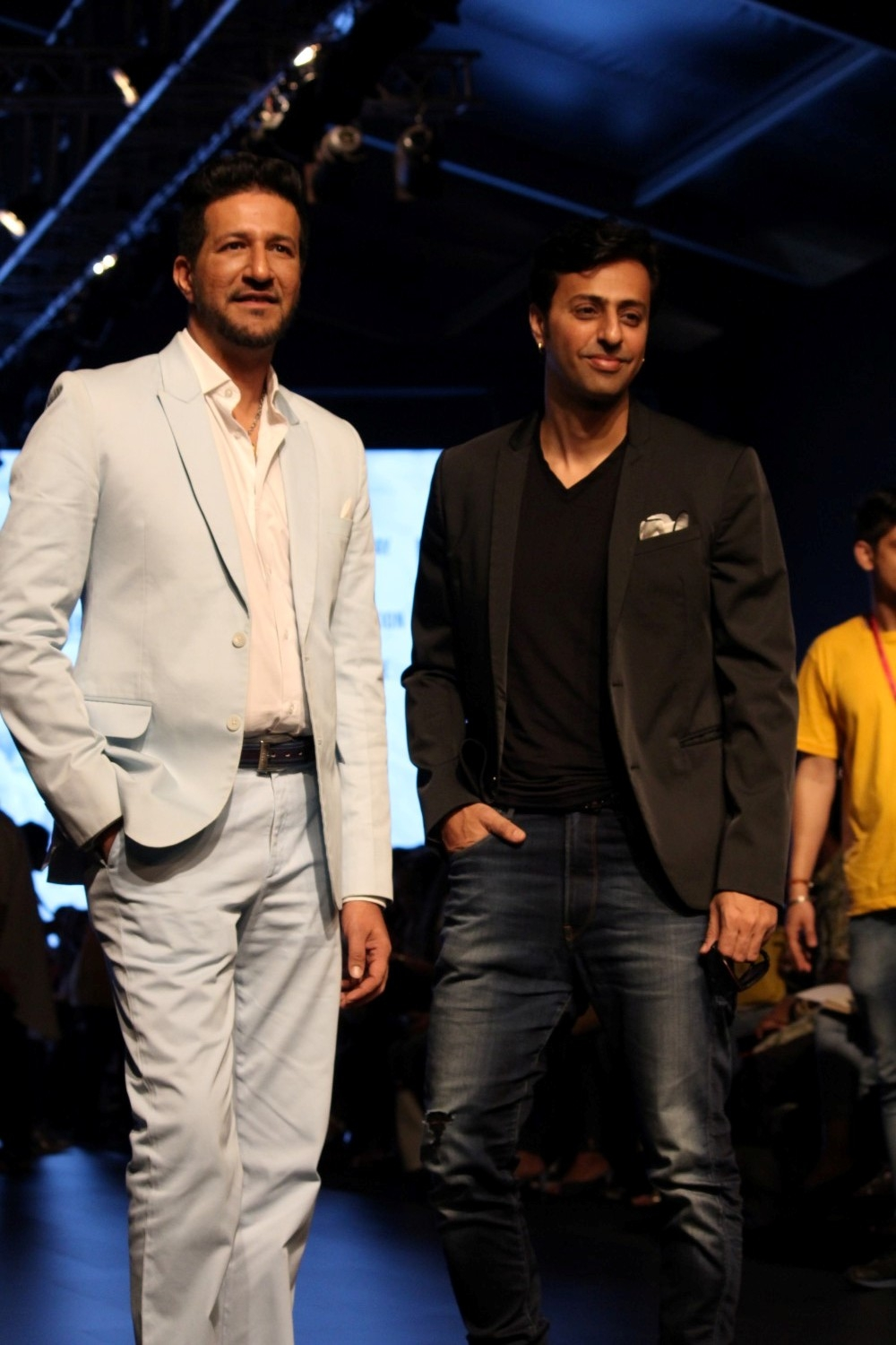Mumbai: Music directors Sulaiman Merchant and Salim Merchant during the Lakme Fashion Week Summer/Resort 2017  in Mumbai on Feb 2, 2017. (Photo: (IANS)