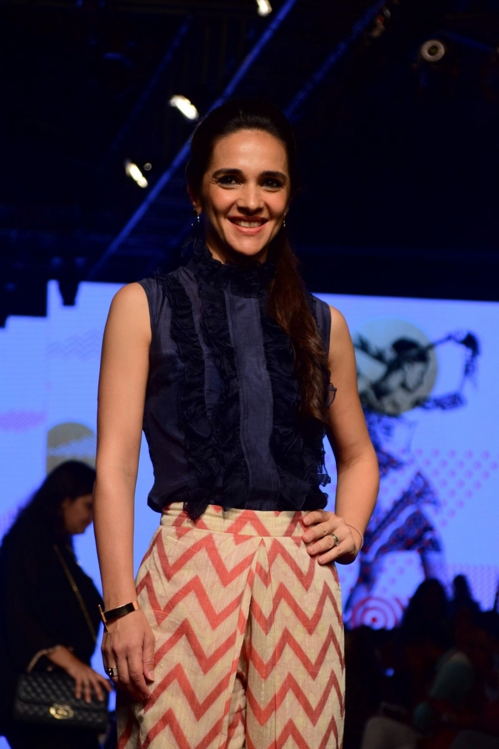 Mumbai: Actress Tara Sharma during the Lakme Fashion Week Summer/Resort 2017, in Mumbai, on Feb 3, 2017. (Photo: IANS)
