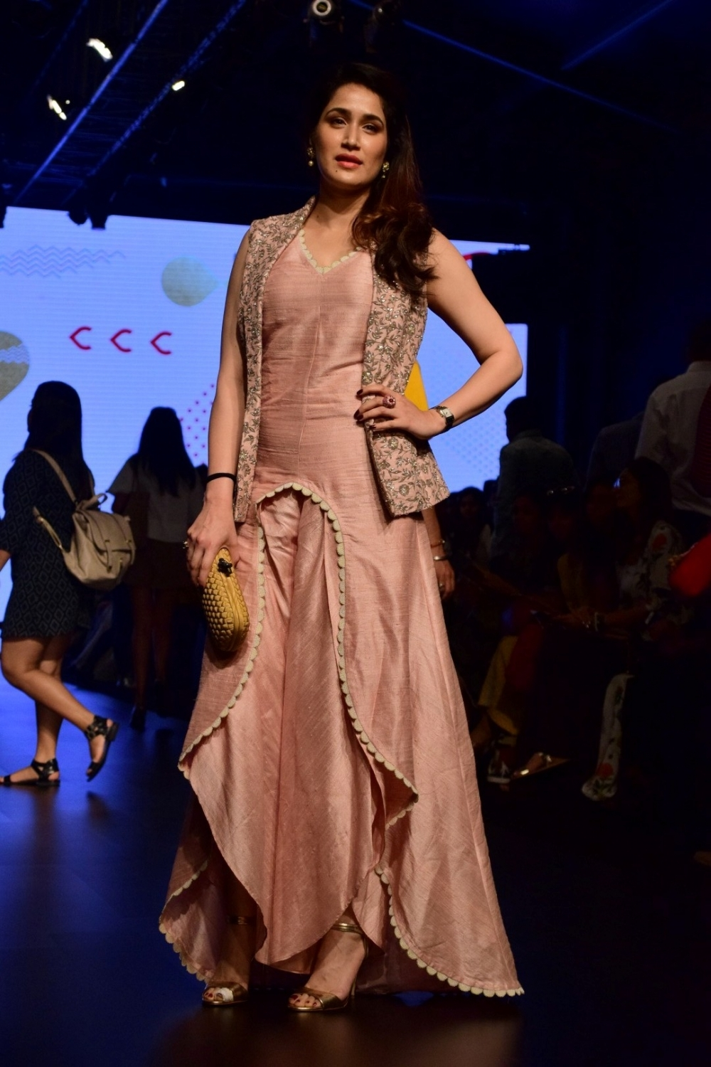 Mumbai: Actress Sagarika Ghatge during the Lakme Fashion Week Summer/Resort 2017, in Mumbai, on Feb 3, 2017. (Photo: IANS)