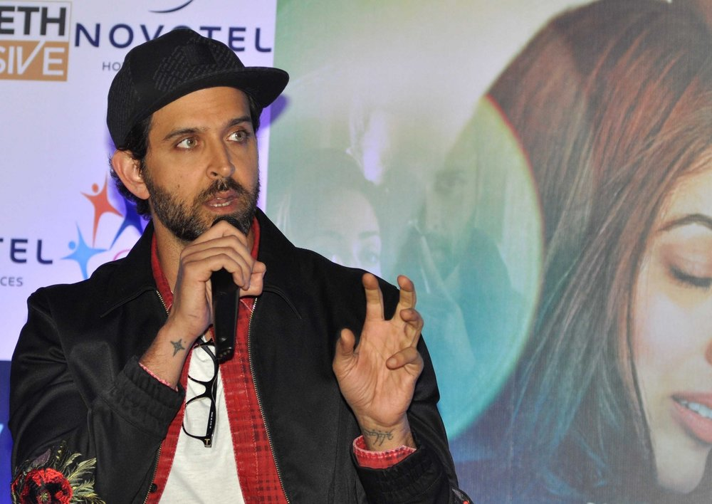 Kolkata: Actor Hrithik Roshan during a press conference to promote his film 'Kaabil' in Kolkata on Feb 3, 2017. (Photo: Kuntal Chakrabarty/IANS)