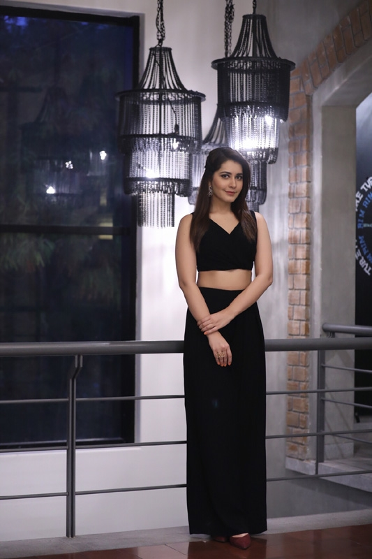 Hyderabad: Actress Rashi Khanna during the launch of Dr Copper Water Bottles in Hyderabad. (Photo: IANS)
