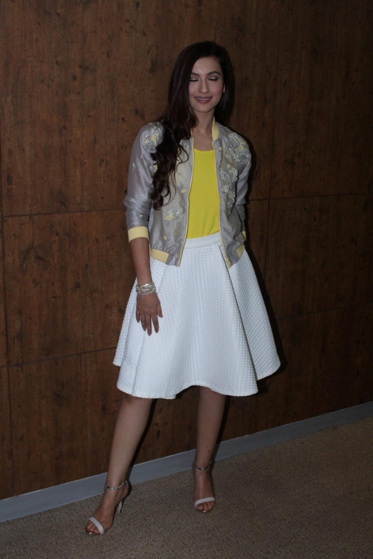 Mumbai: Actress Gauhar Khan spotted at a fashion show in Mumbai on May 7, 2017. (Photo: IANS)