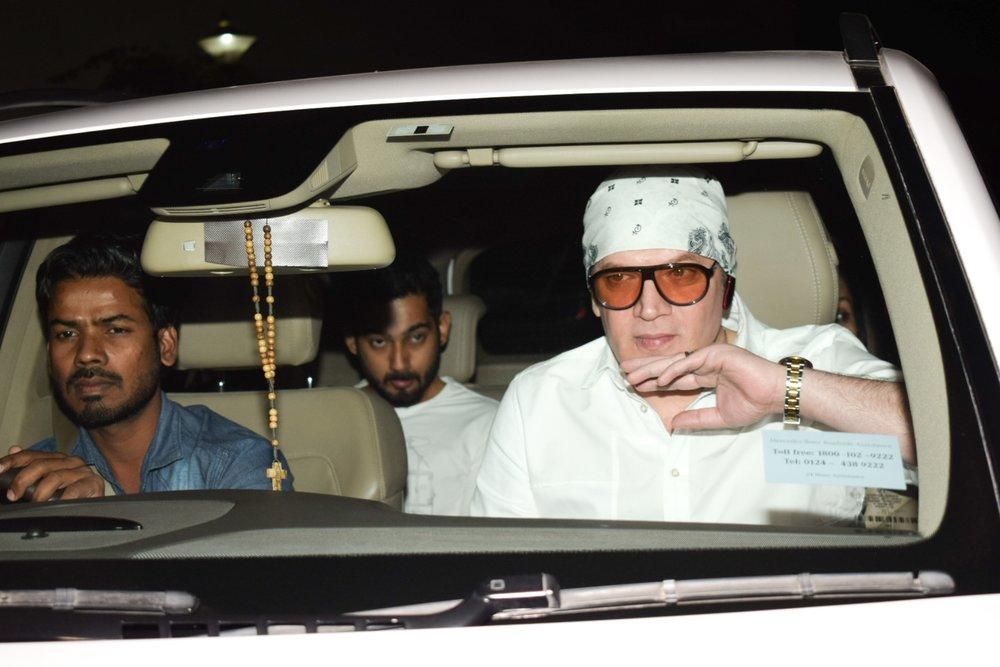 "Mumbai: Actor Aditya Pancholi arrives at the special screening of film ""Padmaavat"" in Mumbai on Jan 25, 2018. (Photo: IANS)"