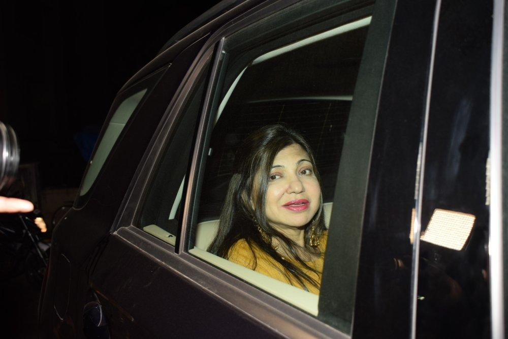 "Mumbai: Playback Singer Alka Yagnik arrives at the special screening of film ""Padmaavat"" in Mumbai on Jan 25, 2018. (Photo: IANS)"