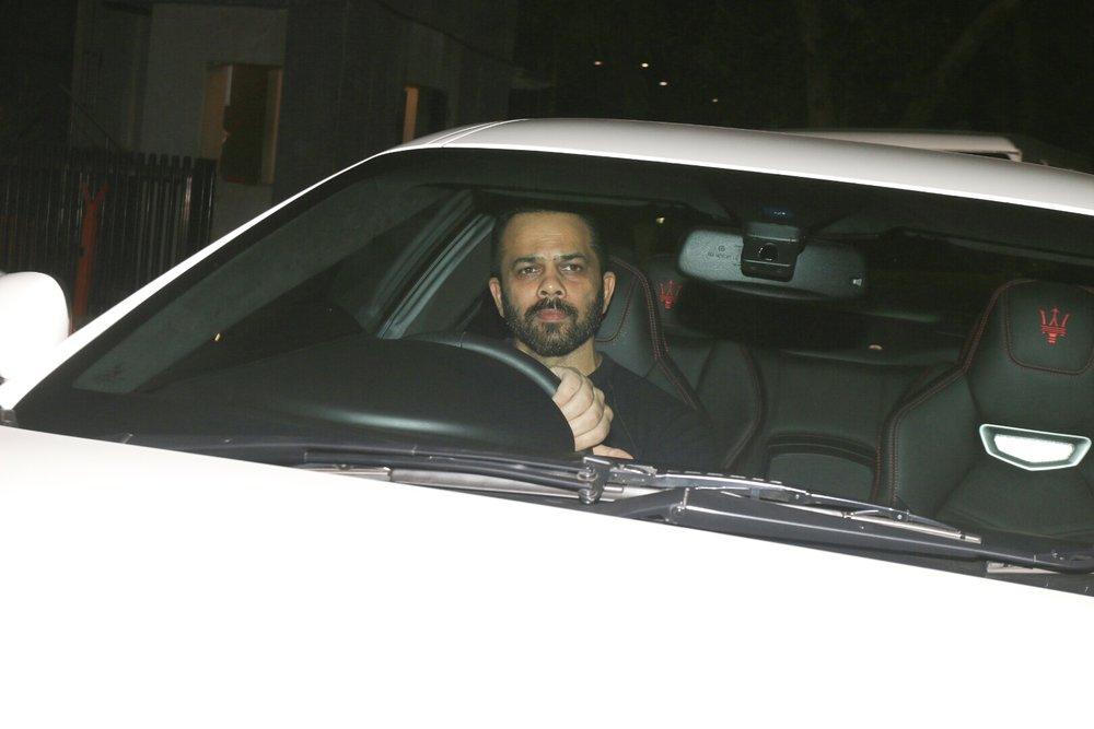 "Mumbai: Filmmaker Rohit Shetty arrives at the special screening of film ""Padmaavat"" in Mumbai on Jan 25, 2018. (Photo: IANS)"