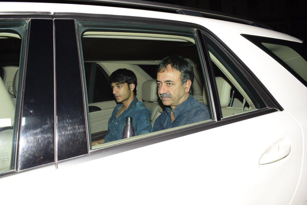 """Mumbai: Filmmaker Rajkumar Hirani arrives at the special screening of film """"Padmaavat"""" in Mumbai on Jan 25, 2018. (Photo: IANS)"""
