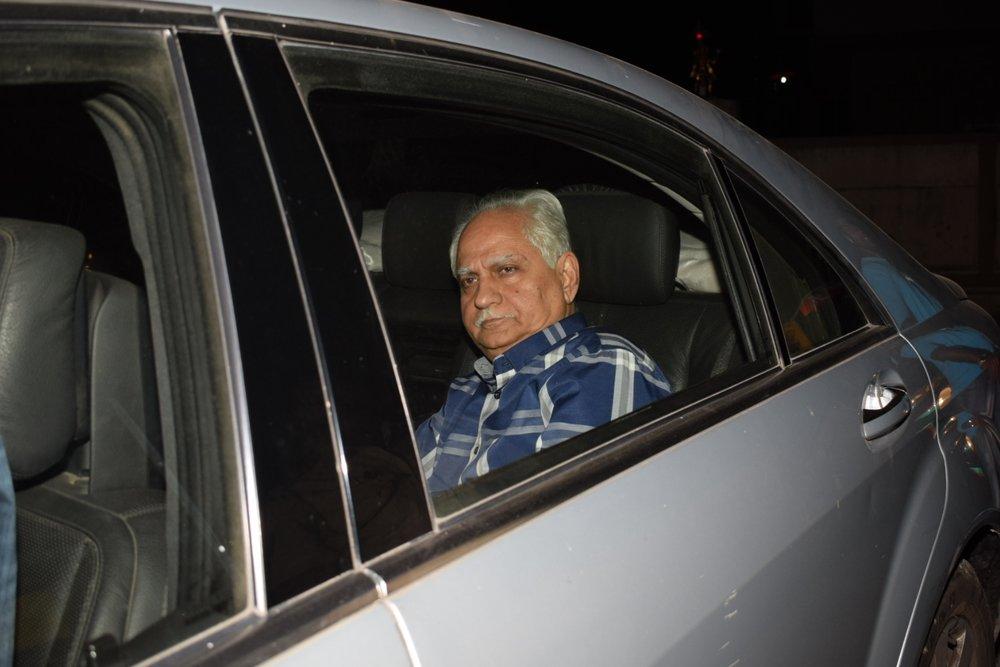 "Mumbai: Filmmaker Ramesh Sippy arrives at the special screening of film ""Padmaavat"" in Mumbai on Jan 25, 2018. (Photo: IANS)"