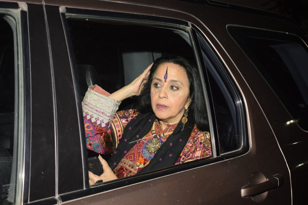 "Mumbai: Singer Ila Arun arrives at the special screening of film ""Padmaavat"" in Mumbai on Jan 25, 2018. (Photo: IANS)"