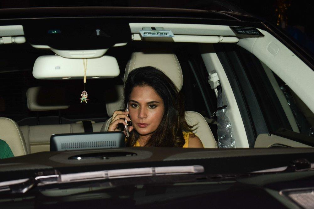 "Mumbai: Actress Richa Chadda arrives at the special screening of film ""Padmaavat"" in Mumbai on Jan 25, 2018. (Photo: IANS)"