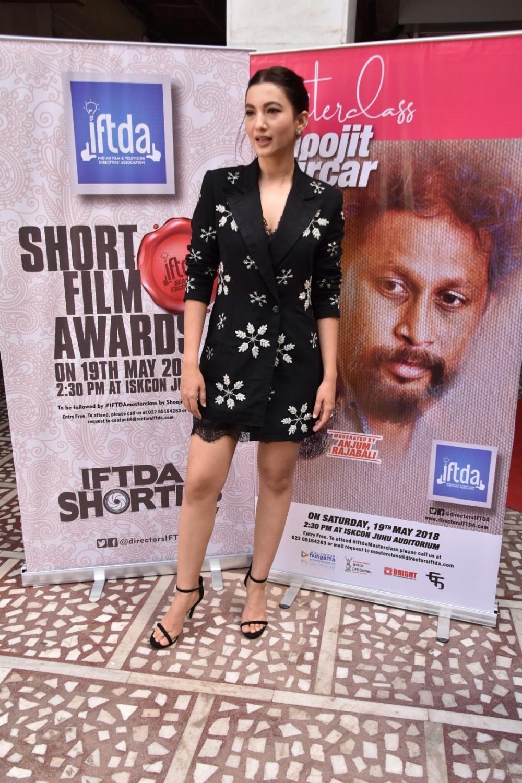 Mumbai: Actress Gauhar Khan seen at Hare Krishna Land (ISKCON Juhu) in Mumbai, on May 20, 2018. (Photo: IANS)
